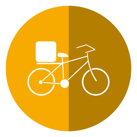 pizza food delivery bicycle shadow vector illustration eps 10