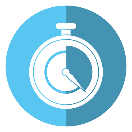 stopwatch fast delivery symbol shadow vector illustration eps 10