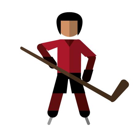 character hockey player skating vector illustration eps 10 Illustration
