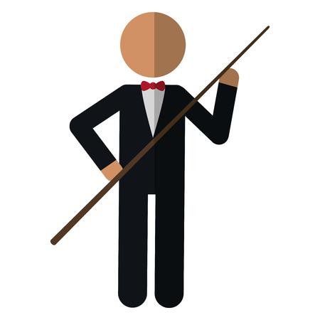 character billiard player vector illustration eps 10