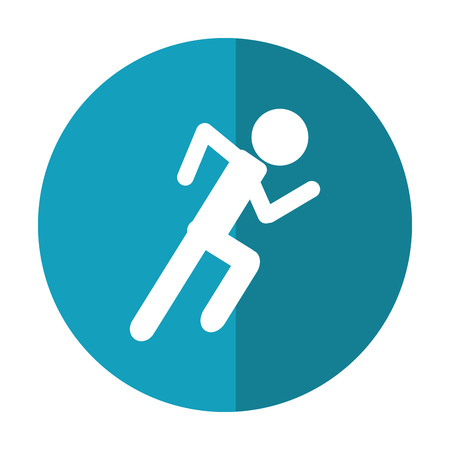 endurance run: athletic runner sport active shadow vector illustration eps 10