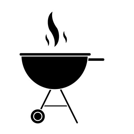 silhouette bbq grill party american football vector illustration esp 10