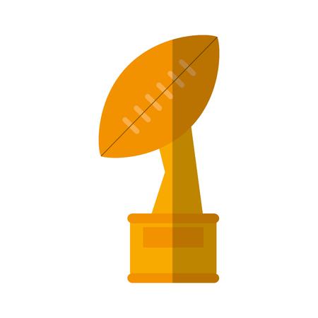 trophy winner ball shape american football vector illustration eps 10
