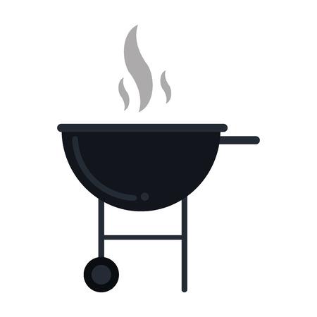 esp: bbq grill party american football vector illustration esp 10