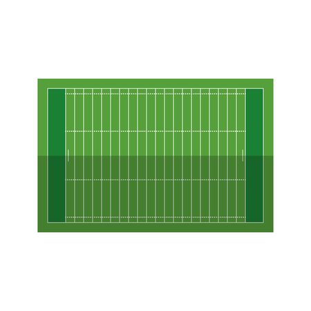 bleachers: field american football grass vector illustration eps 10