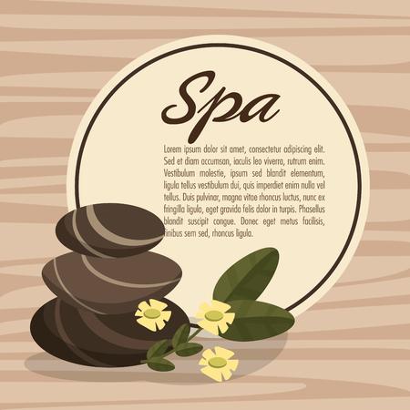 hot stone massage: poster spa hot stone massage relax with flower wood bakcground