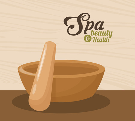 spa collage: spa beauty and health mortar