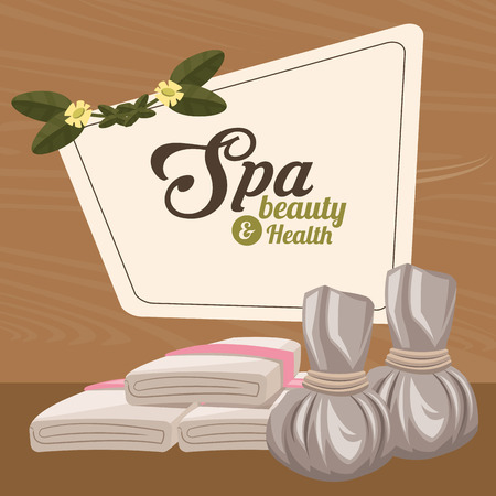 spa beauty and health herbal compress and towel
