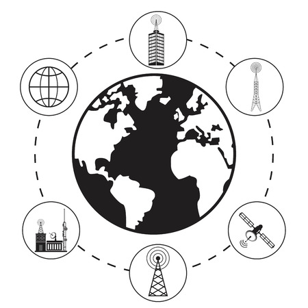 provider: globe antenna provider communication Illustration