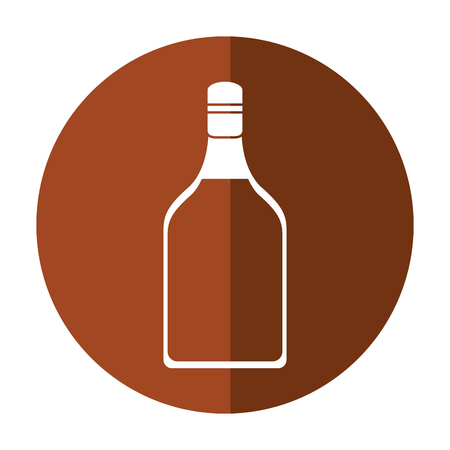 alcoholic beverage: tequila bottle alcoholic beverage shadow vector illustration eps 10 Illustration