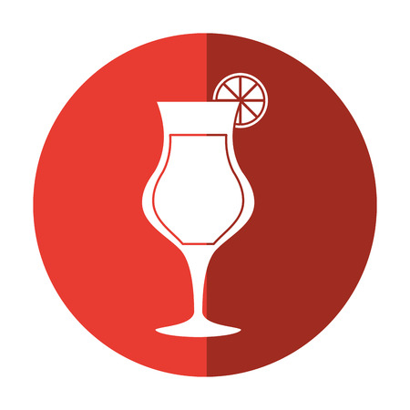 alcoholic beverage: cocktail glass cup alcoholic beverage shadow vector illustration eps 10