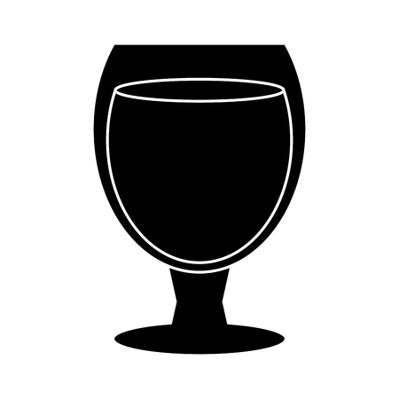 champagne orange: silhouette glass cocktail cup drink party vector illustration eps 10