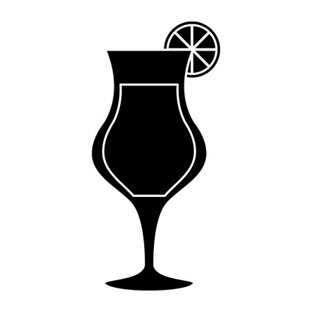 alcoholic beverage: silhouette cocktail glass cup alcoholic beverage vector illustration eps 10 Illustration