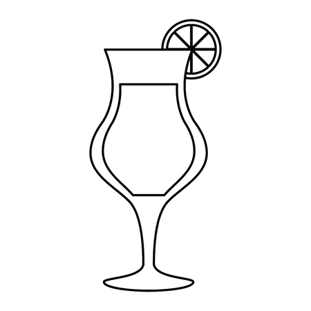 cocktail glass cup alcoholic beverage outline vector illustration eps 10