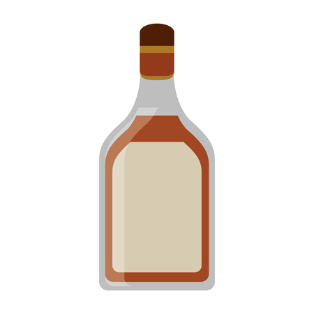 alcoholic beverage: tequila bottle alcoholic beverage vector illustration eps 10 Illustration