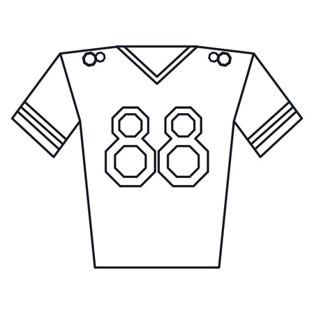 jersey player american football outline vector illustration vector - Football Outline