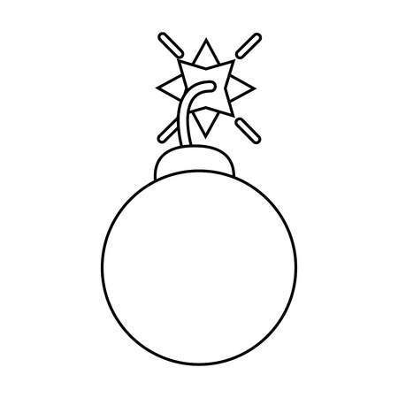 security system concept bomb icon outline vector illustration eps 10