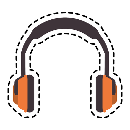 Headphone icon. Industrial security safety and protection theme. Isolated design. Vector illustration Illustration