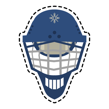 ricreazione: Helmet icon. Winter sport hobby recreation equipment and activity theme. Isolated design. Vector illustration