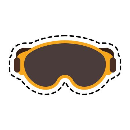 warm cloth: Glasses icon. Winter cloth warm fashion and cold theme. Isolated design. Vector illustration Illustration