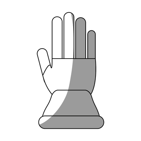 detection: Glove icon. Industrial security safety and protection theme. Isolated design. Vector illustration