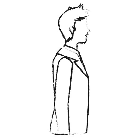 associates: Businessman icon. Management corporate job and leader theme. Isolated design. Vector illustration Illustration