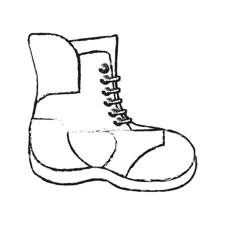 warm cloth: Boot icon. Winter cloth warm fashion and cold theme. Isolated design. Vector illustration Illustration