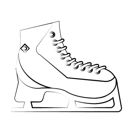 ricreazione: Ice skate icon. Winter sport hobby recreation equipment and activity theme. Isolated design. Vector illustration Vettoriali