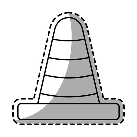 detection: Cone icon. Industrial security safety and protection theme. Isolated design. Vector illustration