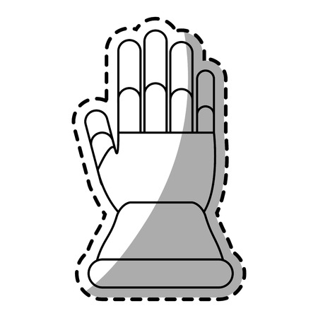 Glove icon. Industrial security safety and protection theme. Isolated design. Vector illustration