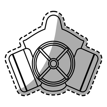Mask icon. Industrial security safety and protection theme. Isolated design. Vector illustration Illustration