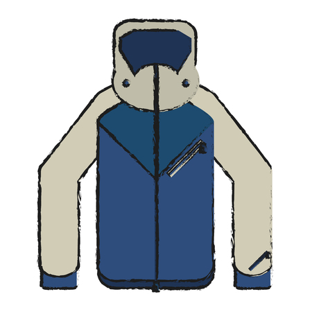 warm cloth: Jacket icon. Winter cloth warm fashion and cold theme. Isolated design. Vector illustration Illustration