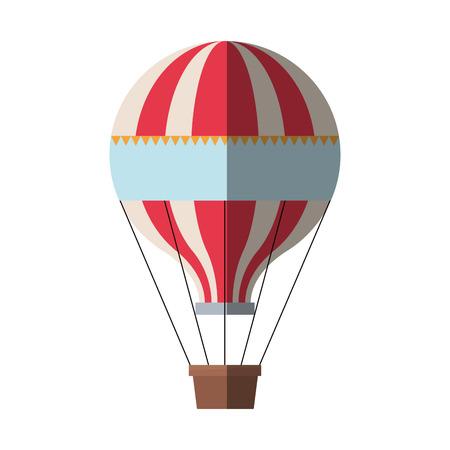 Heißluftballon-Symbol. Transport Abenteuer Freiheit und Reisethema. Isoliertes Design. Vektor-Illustration
