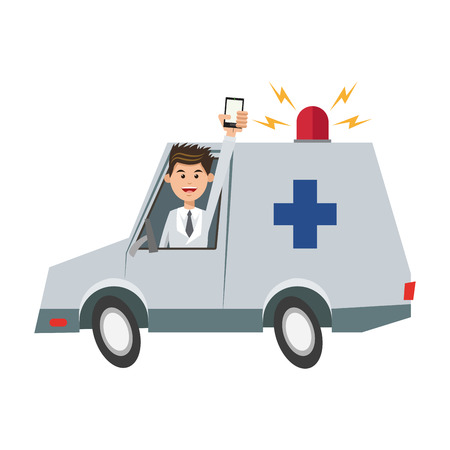 urgent care: Ambulance icon. Medical health care hospital and emergency theme. Isolated design. Vector illustration