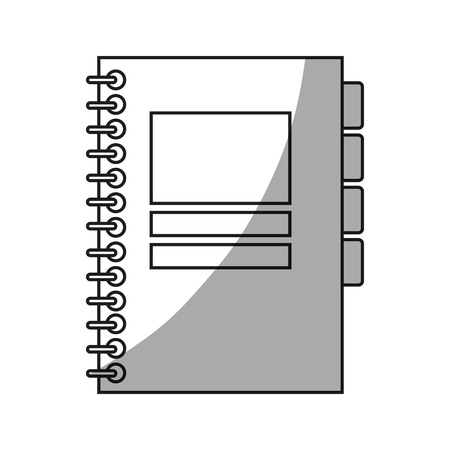 directory: Agend icon. Notebook book directory and information theme. Isolated design. Vector illustration Illustration