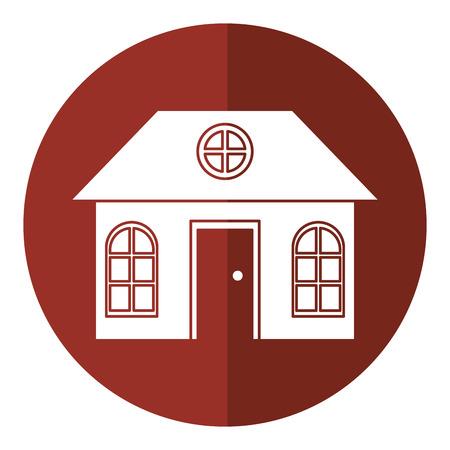 suburban: house family architectural suburban shadow vector illustration eps 10
