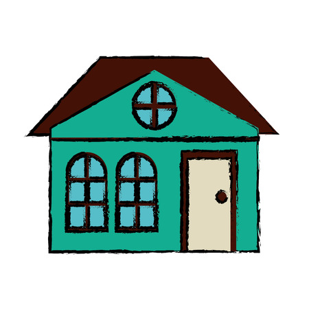 suburban: drawing house family architectural suburban vector illustration eps 10 Illustration