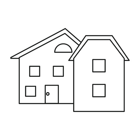 windows home: modern home style windows outline vector illustration eps 10
