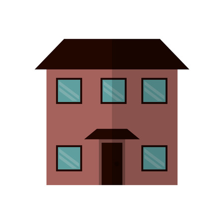 american stories: house real state two story vector illustration eps 10