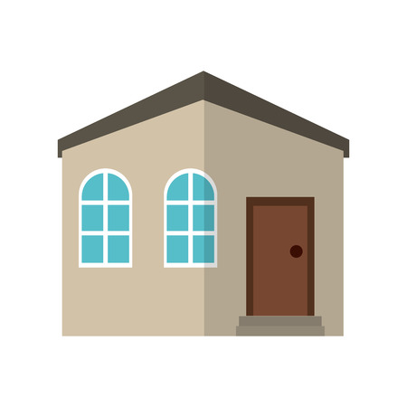 residence: house private residence structure vector illustration eps 10 Illustration