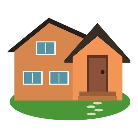 housewarming facade exterior garden design vector illustration eps 10 Illustration