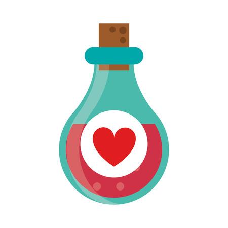 elixir: bottle elixir love potion vector illustration eps 10
