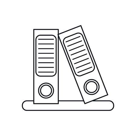 folio: folder document archive folio office outline vector illustration