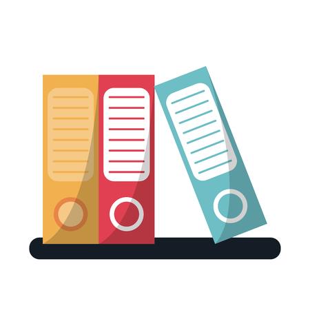 folio: folder document archive folio office vector illustration