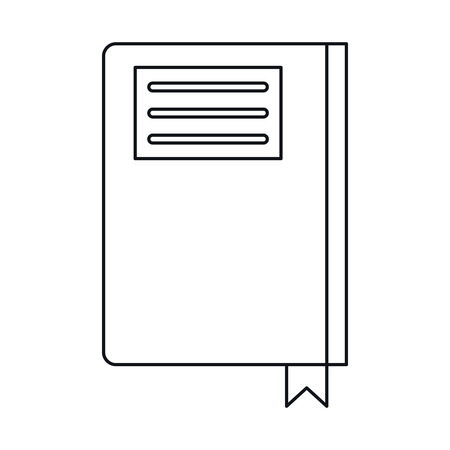directory: book diary directory office outline vector illustration