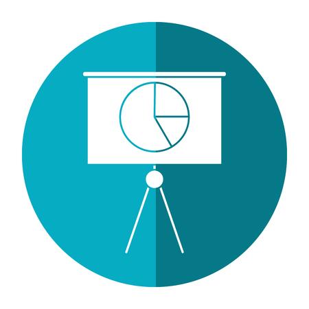 upside: business presentation chart finance board shadow vector illustration