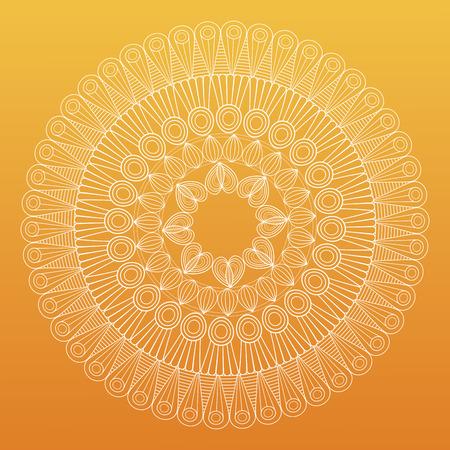 mandala bohemic decorated rituals vector illustration yellow background