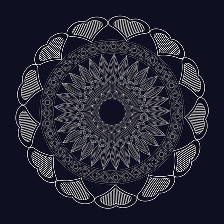 spirtual: mandala meditation spirtual element vector illustration eps 10