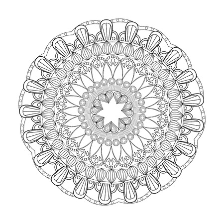 mandala rituals classic outline vector illustration eps 10