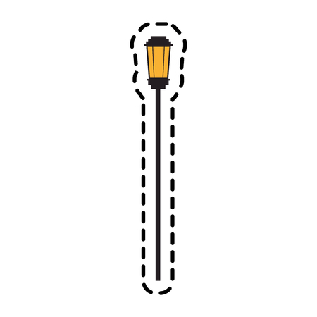 street lamp icon over white background. colorful design. vector illustration